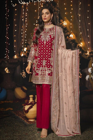 Eshaal Embroidered Luxury Chiffon Collection-EA-608
