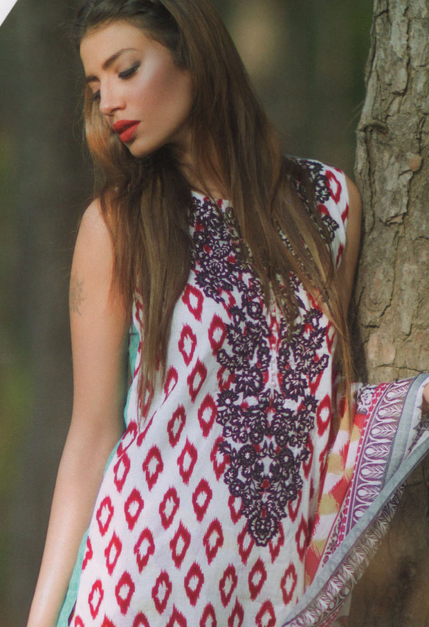 Mina Hasan Designer Lawn Collection 2016 –  8B - YourLibaas  - 1