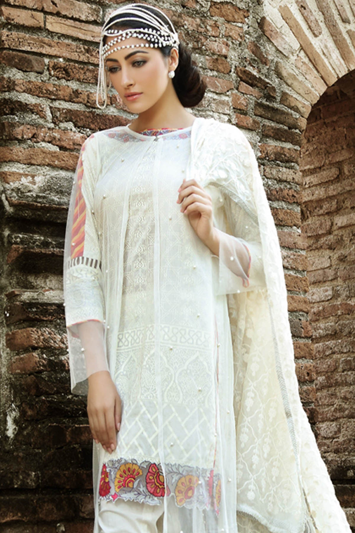 Gul Ahmed Summer  Embroidered Chiffon PM-159