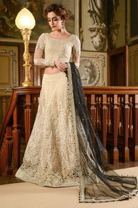 MARIA.B MBROIDERED Wedding Edition 2017 – Cream & Black (BD-1201)