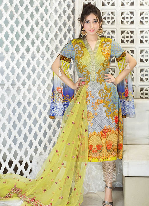 Iznik Luxury Lawn Festival Collection 2017 – Luscious Flair