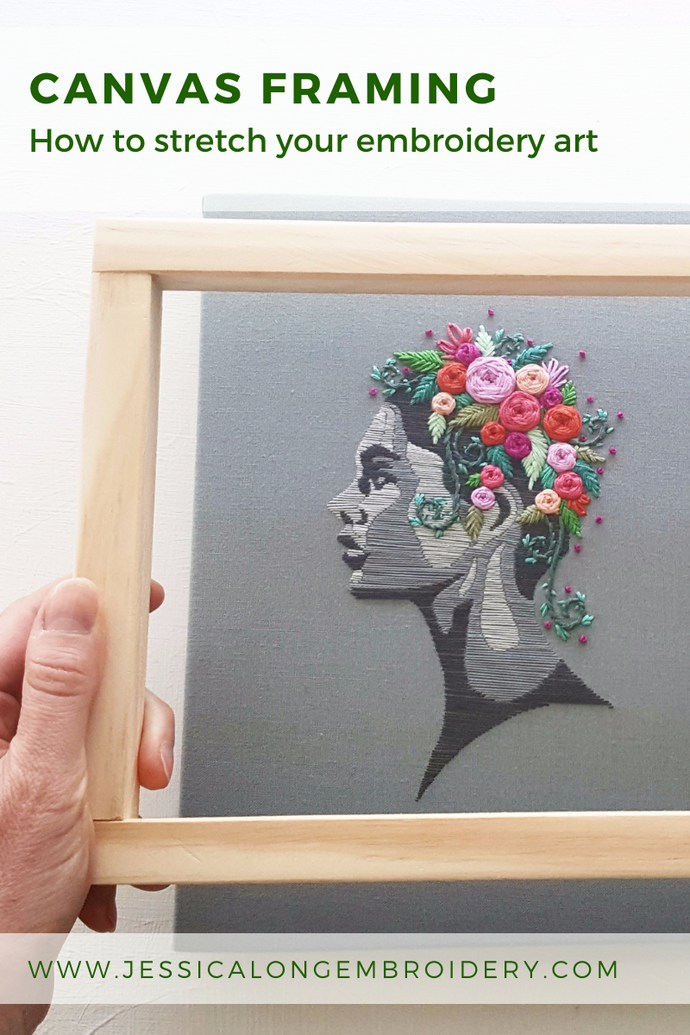 How to Stretch Your Embroidery Art on a Frame