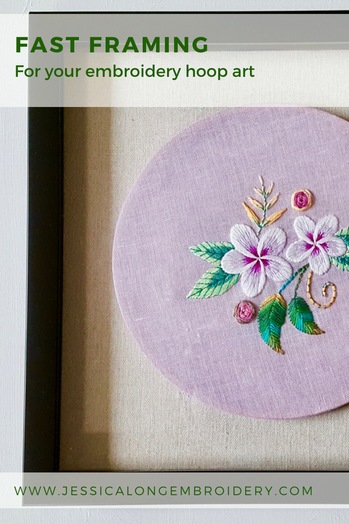 Fast Framing for Your Embroidery Art