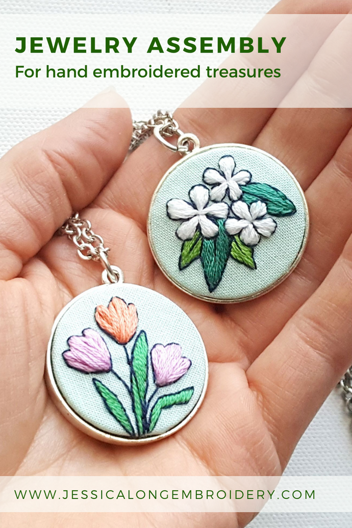 Assembling Hand Embroidered Jewelry