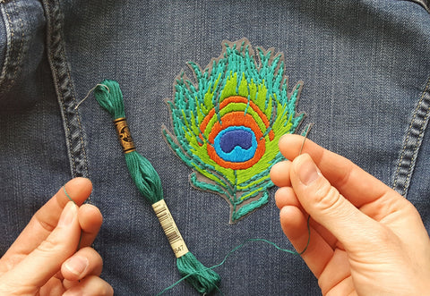 How To Turn Your Hand Embroidered Art Into A Wearable Patch