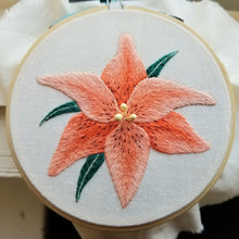 Orange Lily Embroidery Pattern (PDF)
