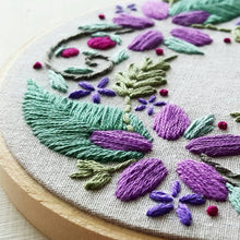 Floral Wreath Beginner Embroidery Pattern (PDF)