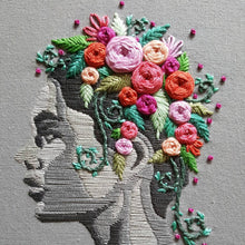 """Flowers in Her Hair"" Embroidery Kit"