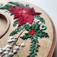 Limited Edition Holiday Wreath Embroidery Kit - with Video Tutorial