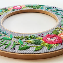 Rainbow Roses Double Hoop Embroidery Pattern (PDF)