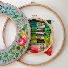 Rainbow Roses Double Hoop Kit