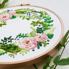Delicate Roses Embroidery Pattern (PDF)