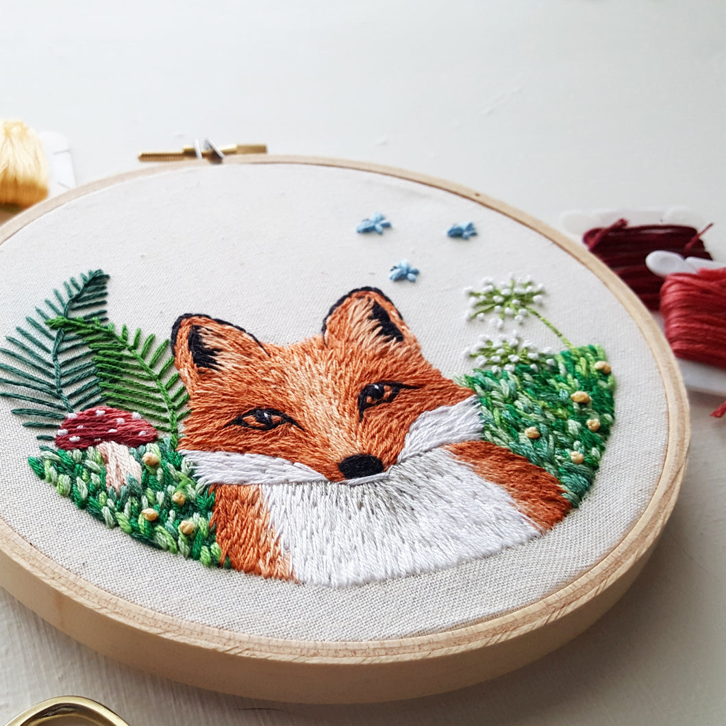 Little Fox Embroidery Pattern Pdf Namaste Embroidery