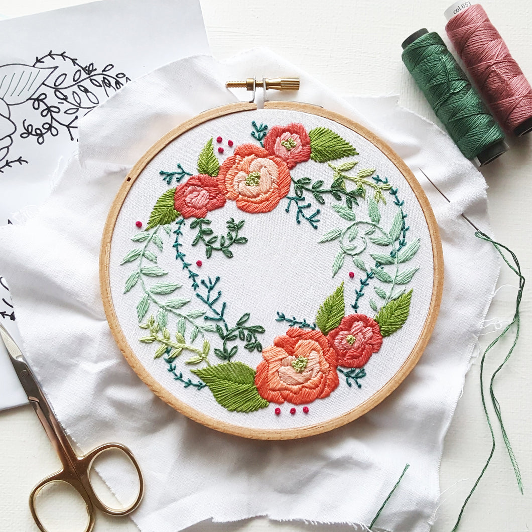 Delicate Roses Embroidery Kit