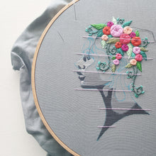 """Flowers in Her Hair"" Embroidery Pattern (PDF)"