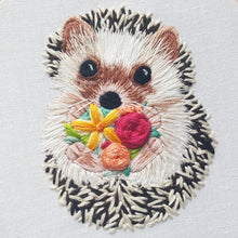 Hedgehog Embroidery Pattern - Includes Video Tutorial!