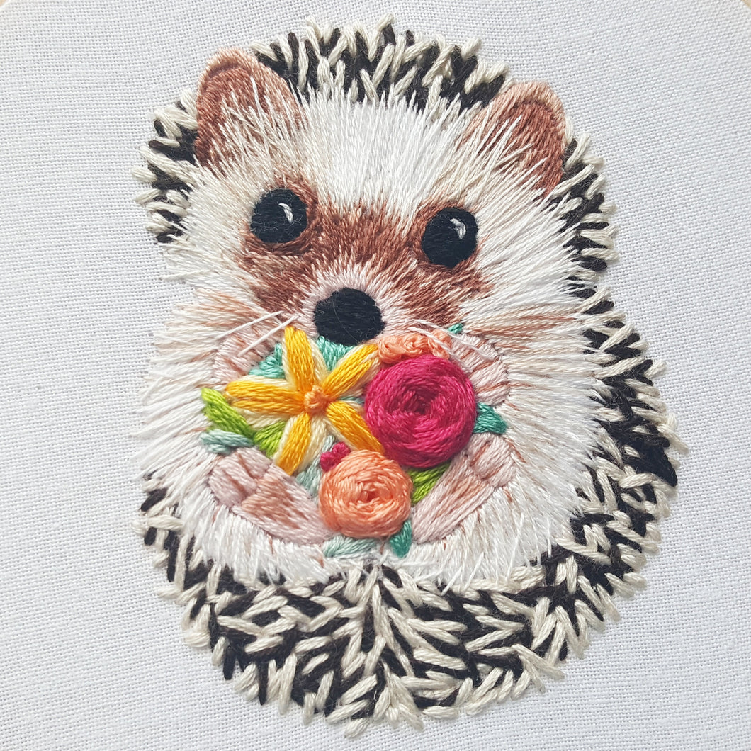 Hedgehog Embroidery Pattern (PDF)