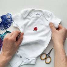 Hand Embroidered Onesie (size 3 - 6 months)