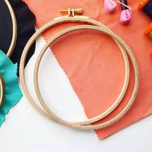 F.A. Edmunds Wooden Embroidery Hoops (4, 6 and 8 inch diameters)