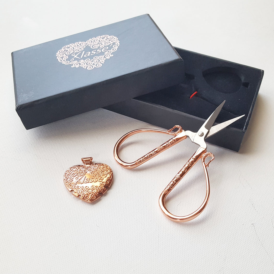 Rose Gold Embroidery Scissor Gift Set