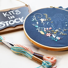 LOVE Embroidery Kit - Navy Fabric