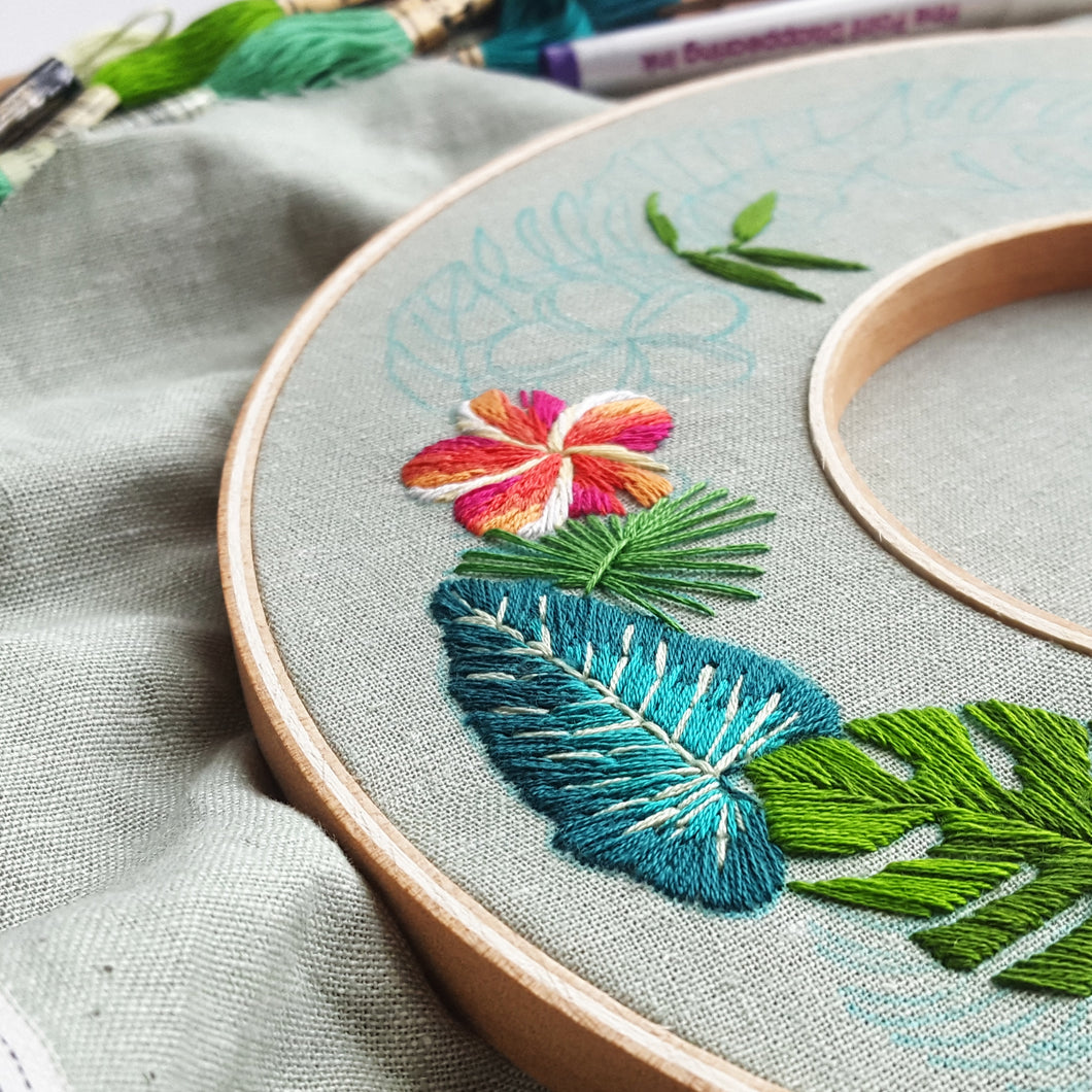 Tropical Paradise Embroidery Pattern Pdf Jessica Long Embroidery Tropical florals and plants are everywhere now—patterns, artwork, and faux florals are all bringing us island vibes all year long. usd