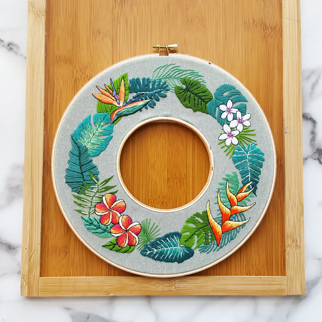 Tropical Paradise Embroidery Pattern (PDF)