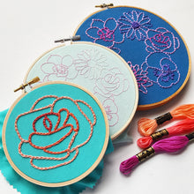 Simple Flowers Embroidery Pattern (PDF)