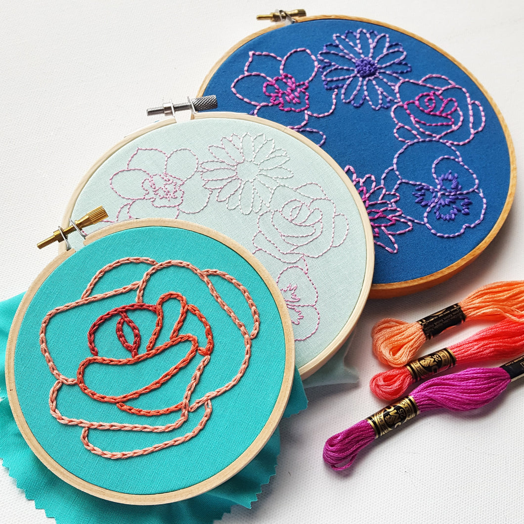 Simple Flowers Embroidery Pattern Pdf Namaste Embroidery