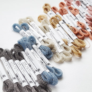 Sparkle Metallic Embroidery Thread by Lecien