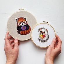 Red Panda Embroidery Kit