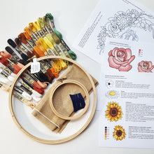 Autumn Wreath Embroidery Kit - with Video Tutorial