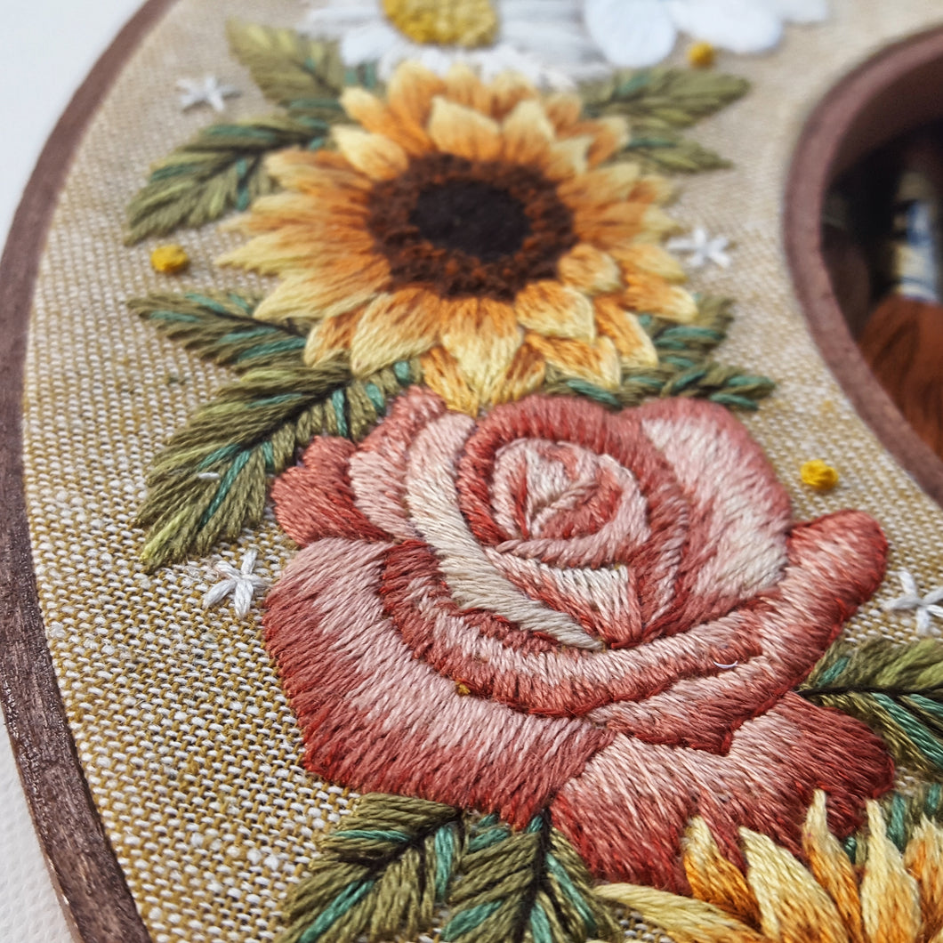 Autumn Wreath Hand Embroidery Pattern Pdf With Video Tutorial