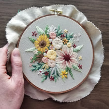 Floral Harvest Embroidery Pattern (PDF)