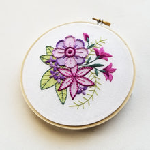 """Bloom"" Original Hoop Art"