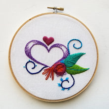 """Heart Sampler"" Original Hoop Art"