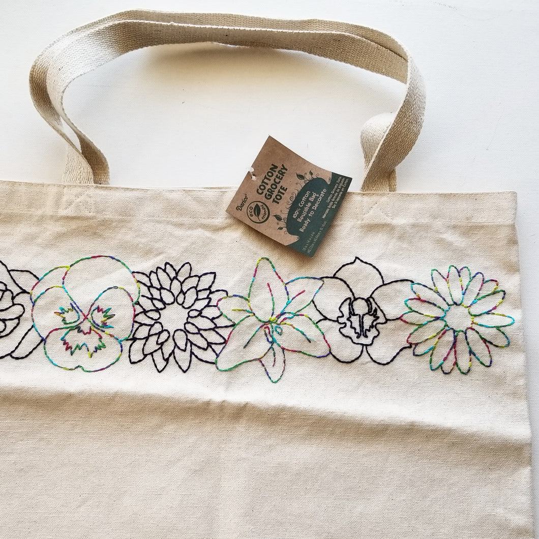Hand Embroidered Tote