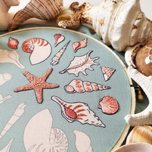 She Sews Seashells Embroidery Pattern (PDF)