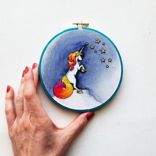 Be A Unicorn Embroidery Pattern (PDF)