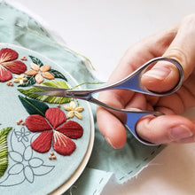 Silver Hand Embroidery Scissors with Teardrop Handles