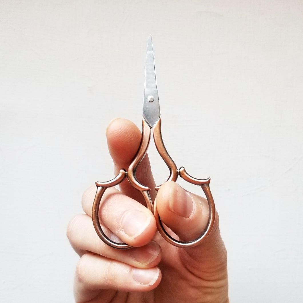Copper Leaf Embroidery Scissors