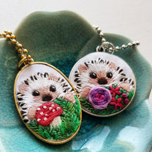 DIY Hand Embroidered Jewelry Kit: Hedgehog