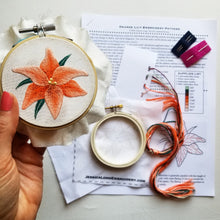 Orange Lily Embroidery Kit