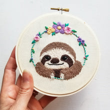 Smiling Sloth Embroidery Kit