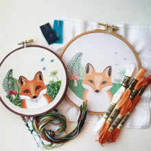 Red Fox Embroidery Kit