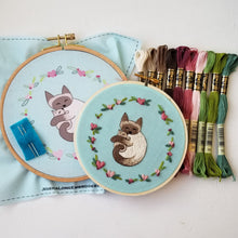 Cuddling Kitties Embroidery Kit