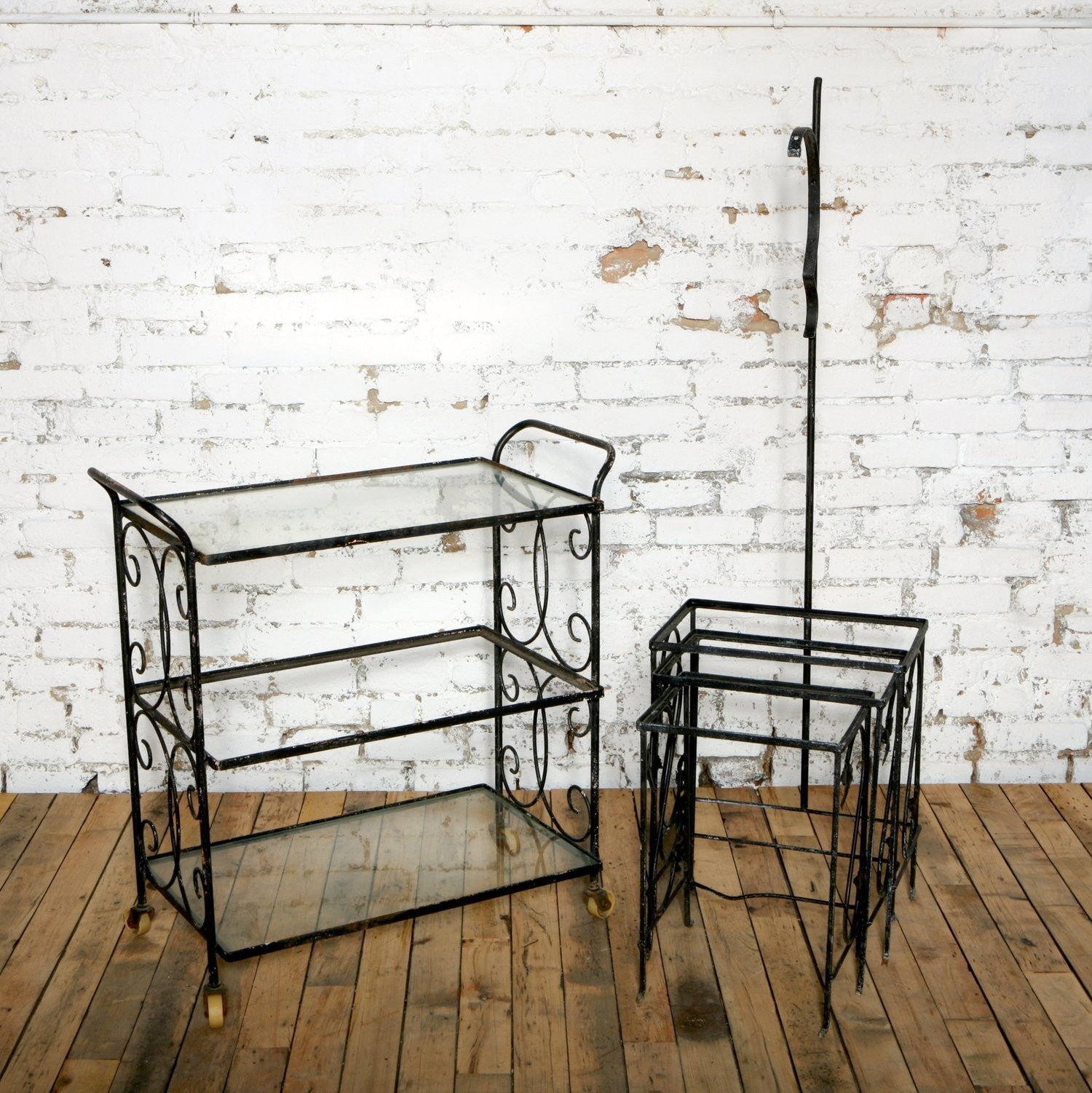 Painted Black Iron Patio Nesting Tables Painted Black Iron Patio Nesting  Tables