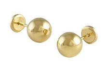 4mm Ball 14k Yellow Gold Screw Back Earring Baby Earrings - Ball Screw Backs