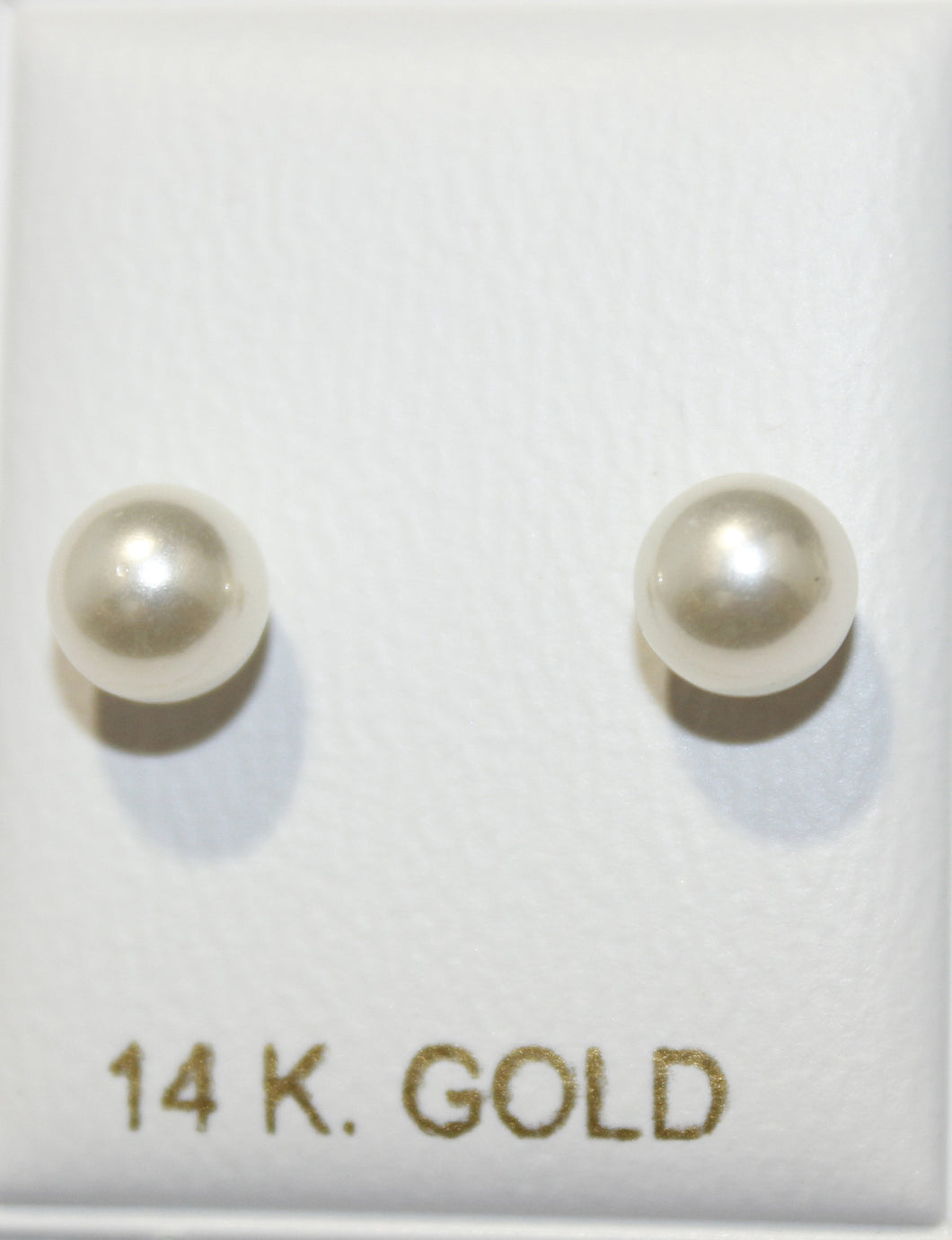 Pearl 5mm 14k Solid Yellow Gold Screw Back Earring Baby Earrings Sweet Water Pearl