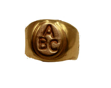 ABC Ring18k Gold Plated Ring - ABC Baby Girl Ring Size 1 and 2